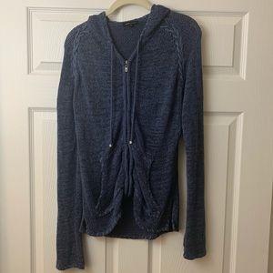 BCBG | Zippered | Hooded | Knit Cardigan sweater